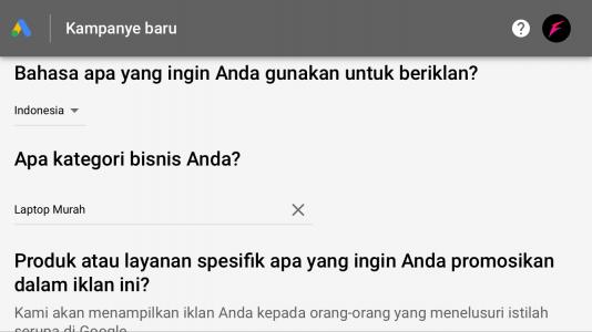 cara pasang keyword google ads