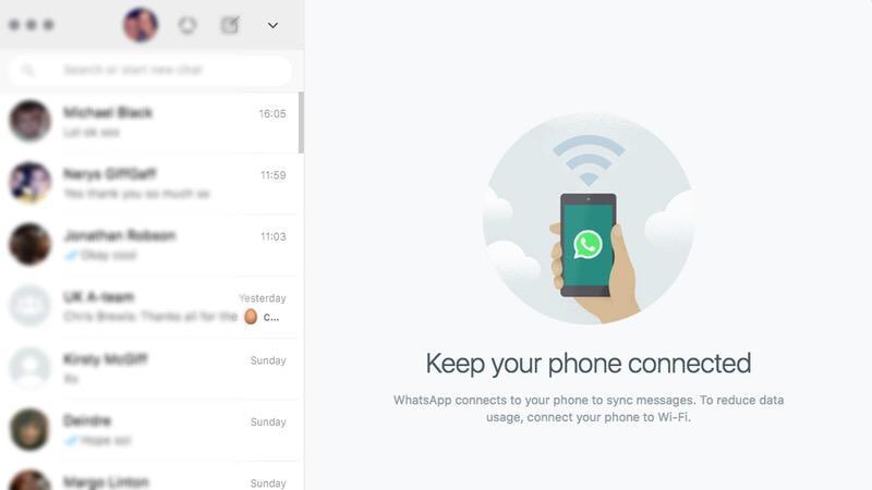 Menghubungkan whatsapp web di iPhone