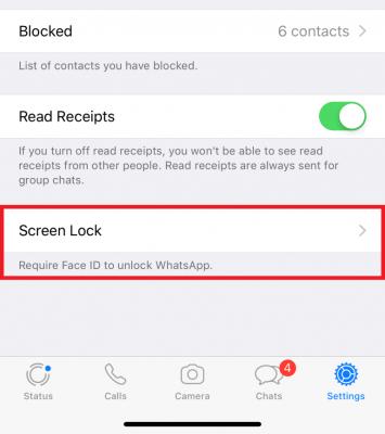 Cara aktifkan sidik jari whatsapp iphone