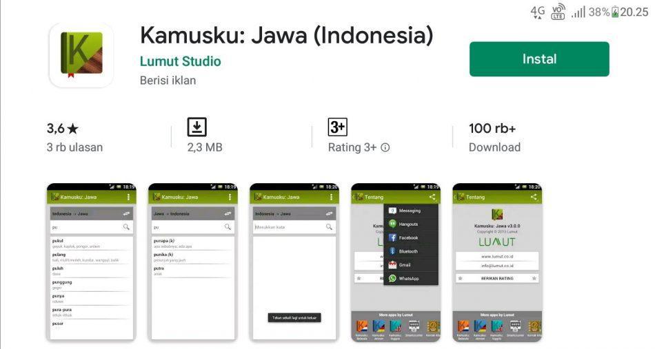 Aplikasi penerjemah bahasa jawa