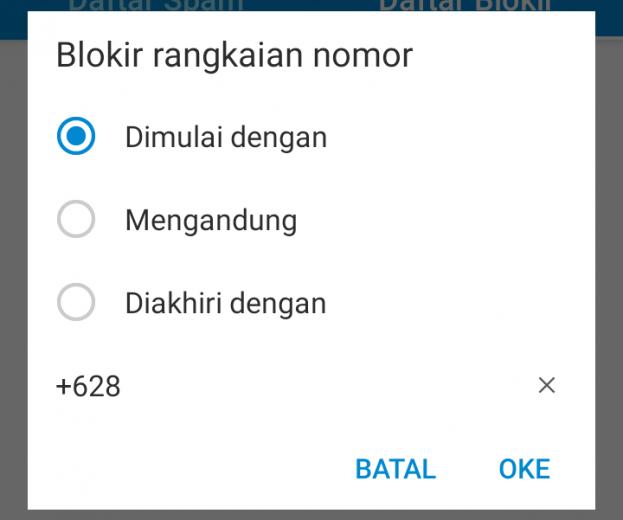Blokir call app contact whatsapp