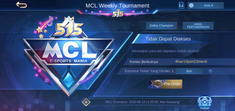 Jadwal MCL Mobile Legends