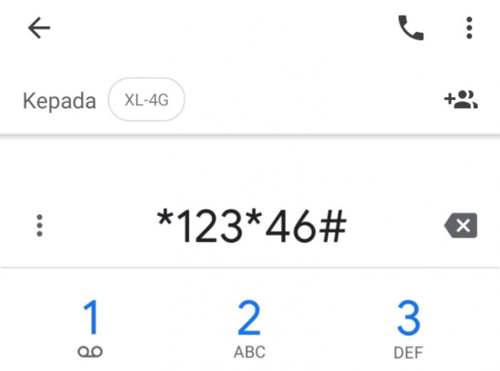 kode upgrade 4G XL