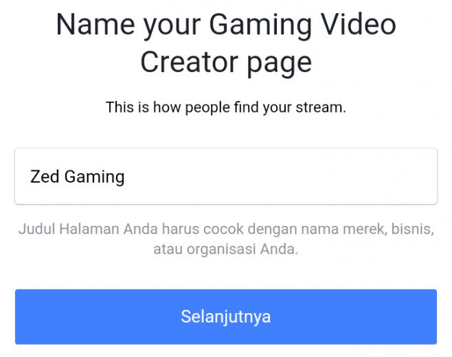 membuat akun fanspage gaming