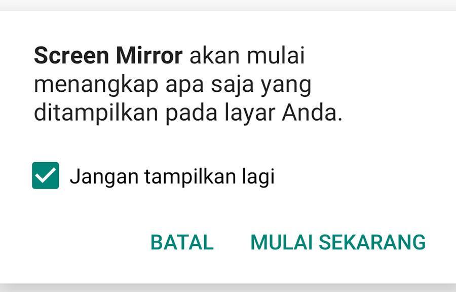Cara Screen Mirror Tanpa Kabel